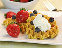 Delicious waffles Stock Images