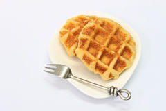 Delicious waffles Stock Photography