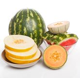 Delicious watermelon and melon on the table Stock Photography