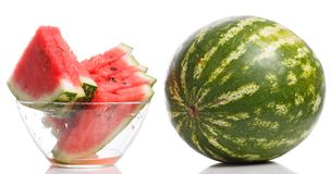 Delicious watermelon on the table Stock Photography