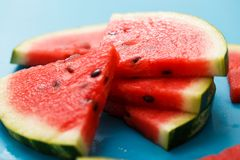 Delicious watermelon on the table Stock Photo
