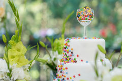 Delicious wedding cake Royalty Free Stock Photos