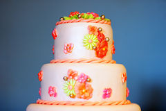 Delicious wedding cake Stock Photos