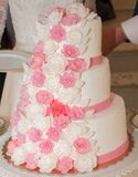 Delicious wedding cake stock images