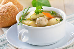 Delicious wedding soup Stock Image