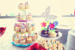Delicious wedding table Royalty Free Stock Image