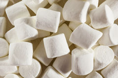 Delicious White Fluffy Round Marshmallows Royalty Free Stock Photos