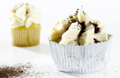 Delicious white vanilla cupcake Royalty Free Stock Photography