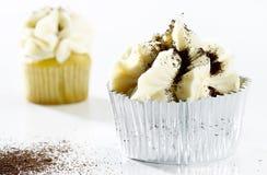 Delicious white vanilla cupcake Royalty Free Stock Photography