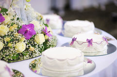 Delicious white wedding cake Royalty Free Stock Photos