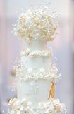 Delicious white wedding cake Stock Photo
