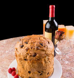 Delicious whole panettone. Stock Images