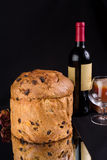 Delicious whole panettone. Stock Image