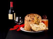 Delicious whole panettone. Stock Photos