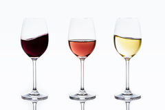 Delicious wines rippling and waving. In glass stock photo