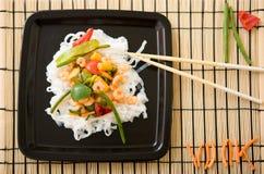 Delicious wok Stock Image