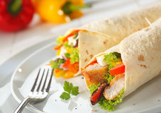 Delicious Wraps With A Filling Royalty Free Stock Image