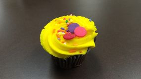 Delicious Yellow Cupcake Royalty Free Stock Images