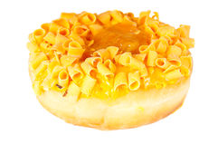 Delicious yellow donut Royalty Free Stock Photos