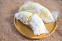 Delicious yellow ripe durian Stock Photos