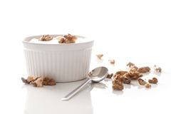 Delicious yoghurt on the table Royalty Free Stock Photography