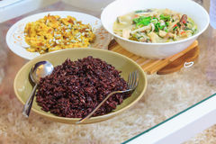 Delicious young sunflower with riceberry and tuna mixed Stock Images