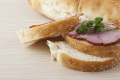 Deliciously looking ham sandwitch Stock Photography