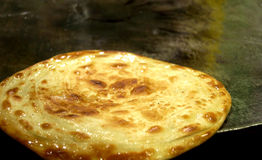 The deliciously tasty indian bread:roti Stock Images