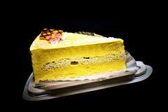 Deliciously And Tasty Mango Cream Cake royalty free stock photo