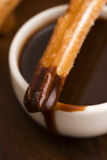 Deliciuos spanish Churros with chocolate Stock Image