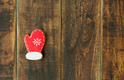 Delicius Christmas cookies. On a wooden table Stock Image