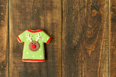 Delicius Christmas cookies. On a wooden table Royalty Free Stock Photo