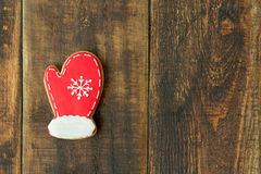 Delicius Christmas cookies. On a wooden table Royalty Free Stock Photography