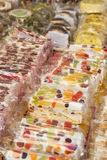 Delicius Nougat. Nougat is a typical sweet Italian handcrafted in the tradition Royalty Free Stock Images