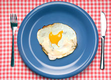 delicous鸡蛋油煎的转弯 免版税库存照片