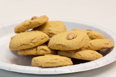 Delicous cookies with nuts. Some delicous cookies with nuts Royalty Free Stock Photography