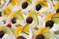 Delicous fruit canape Stock Photography