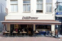 Delifrance-Niederlassung in Leiden, die Niederlande lizenzfreies stockfoto