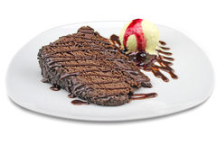 Delight of chocolate. Chocolate cake photographed in Tenerife Spain Royalty Free Stock Photo
