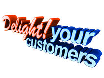 Delight your customers. Customer delight or wow concept, delivering exceptional customer service and support is basic to building a long term and trust worthy royalty free illustration