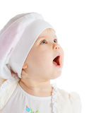 Delighted baby girl Stock Image