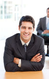Delighted businessman in the foreground Stock Photo