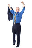 Delighted businessman Stock Photos