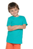 Delighted cute little boy Royalty Free Stock Photography