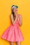 Delighted Girl In Sun Visor Stock Photography