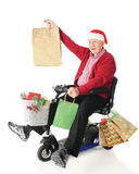 Delighted Grampa Santa Stock Photography