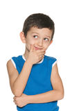 Delighted little boy Stock Images
