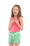 Delighted little girl Royalty Free Stock Photo