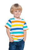 Delighted small boy Stock Image