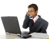Delighted Young Businessman Royalty Free Stock Photography